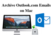 archive outlook.com emails on mac