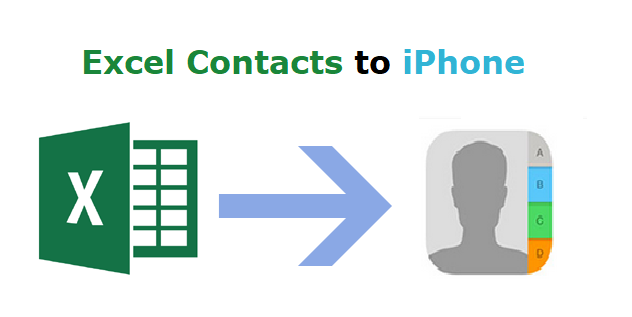 transfer excel contacts to iPhone