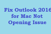 Outlook 2016 for Mac not opening