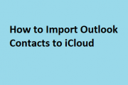 Import Outlook Contacts to iCloud