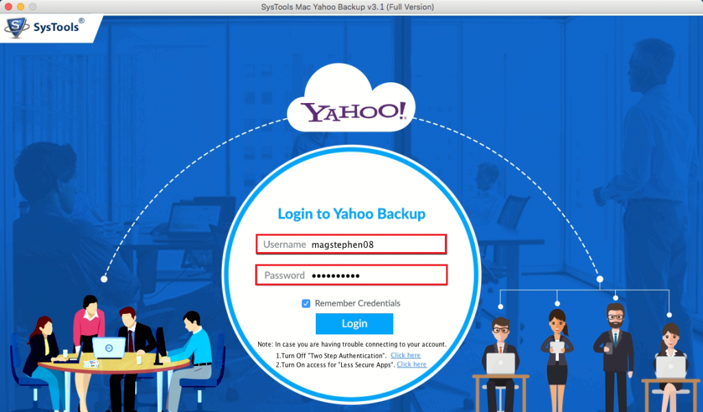 login with yahoo business mail account