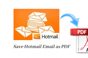 how to save Hotmail email as PDF