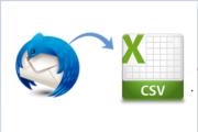 export thunderbird to excel csv