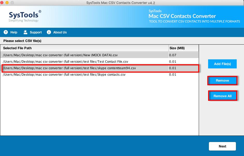 Add CSV Files