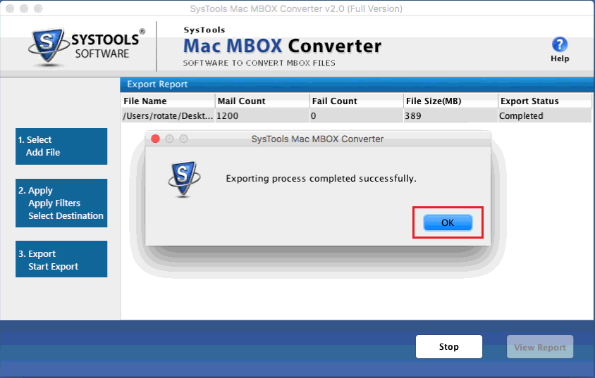 Export the Mac Mbox files