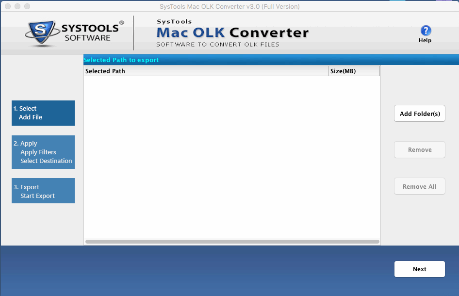 Run MAC olk14message Converter