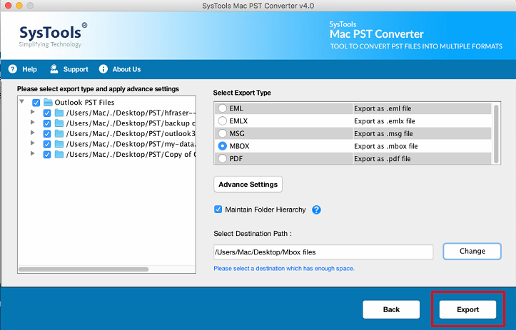 PST to MBOX conversion on Mac