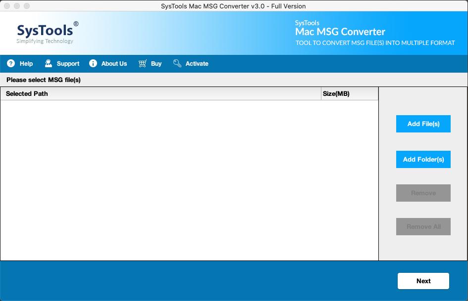 launch mac msg converter tool