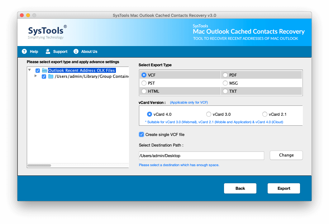 Cached Contacts Recovery